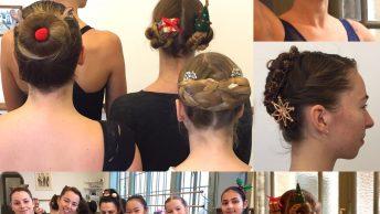 Balletstudenten kerst haar